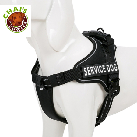 Chai's Choice Service Dog Vest Harness Black